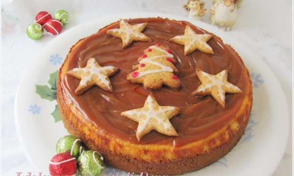 Cheesecake natalizia al pan di zenzero
