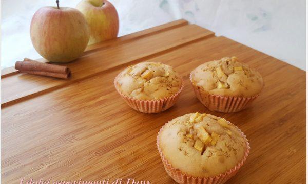 Muffins alle mele, cannella e zenzero