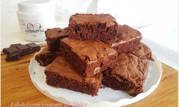 Brownies al cioccolato con olio di cocco