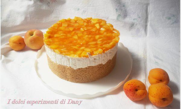 Cheesecake alle pesche e albicocche senza cottura