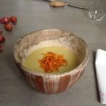 Crema di verza e patate con carote croccanti