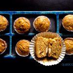 Muffins di colomba Pasquale, mandorle e pinoli