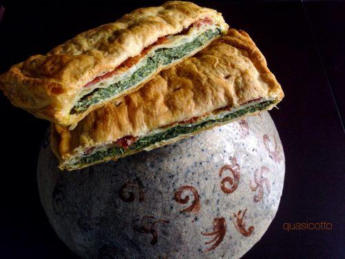 Millefoglie agli spinaci e prosciutto, una bella torta salata