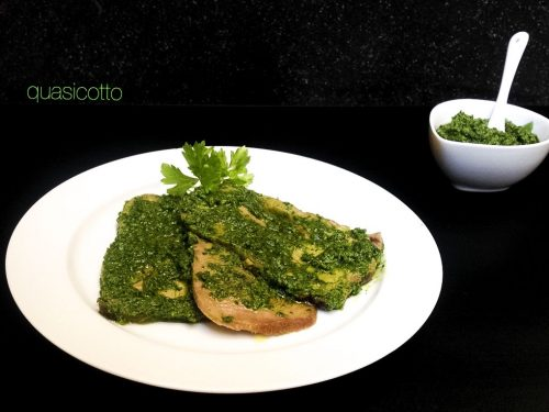 Lingua di vitello in salsa verde ricetta senza aglio
