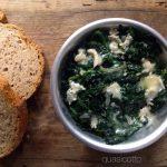 Spinaci al gorgonzola un contorno diverso
