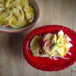 Finocchi e patate con cipolle in teglia