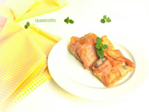 Involtini di mortadella con spinaci