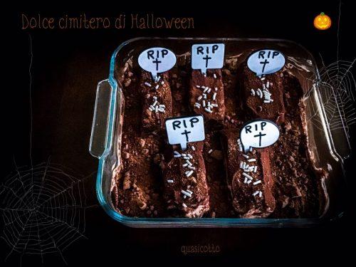 Dolce cimitero di Halloween