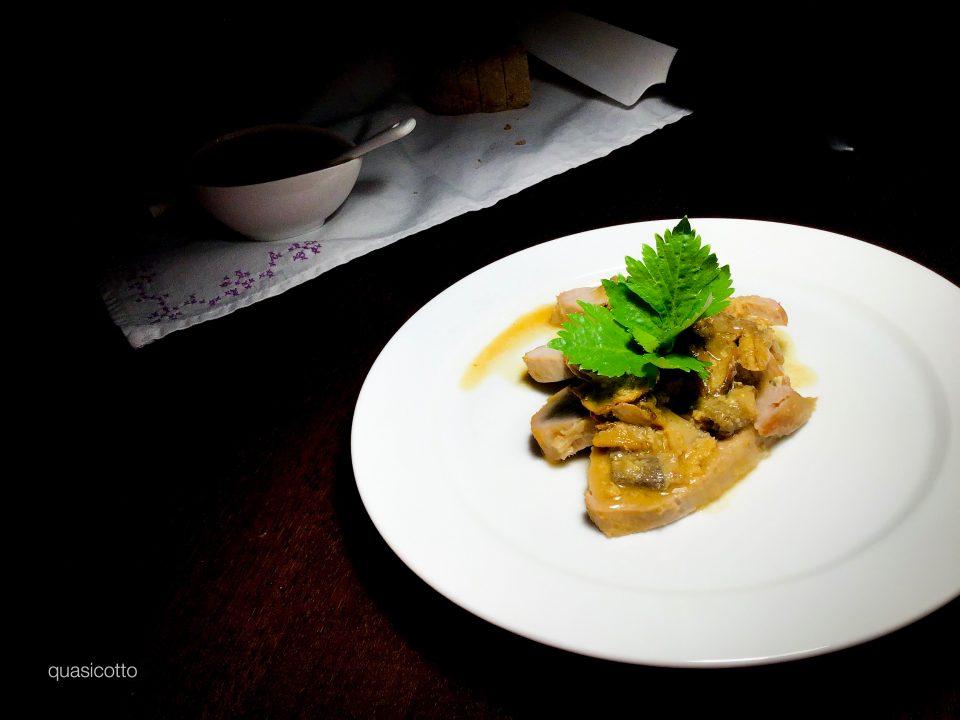 Vitello arrosto con funghi porcini