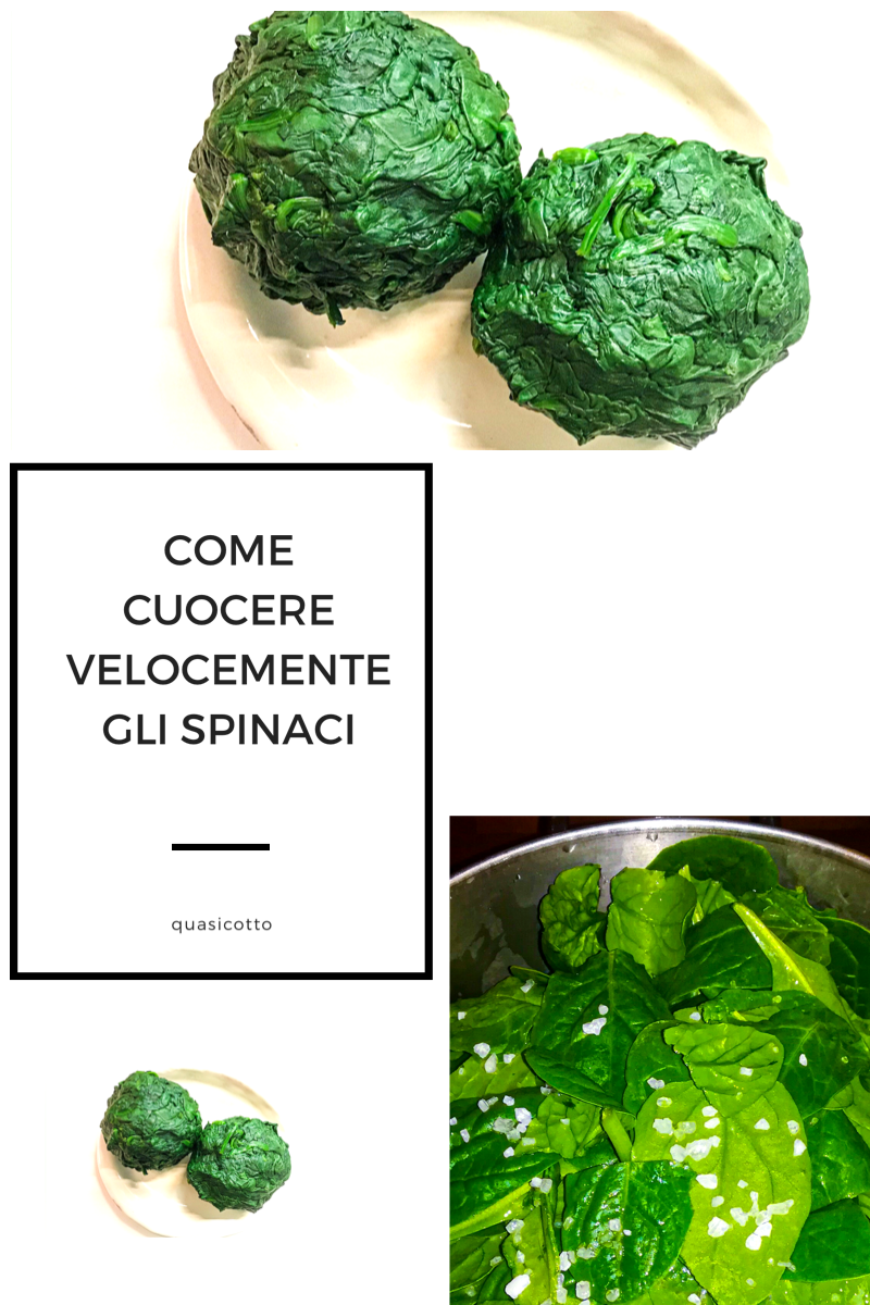 Come cuocere velocemente gli spinaci