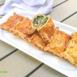 Fagottini di sfoglia con spinaci e prosciutto