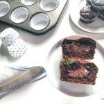 Muffins al cioccolato di panettone o pandoro