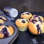 Muffins con i mirtilli frschi