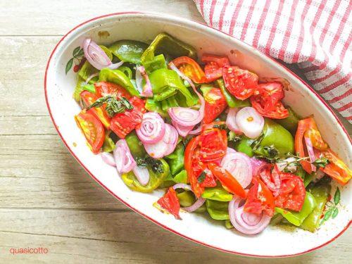 Verdure in teglia cotte nel barbecue