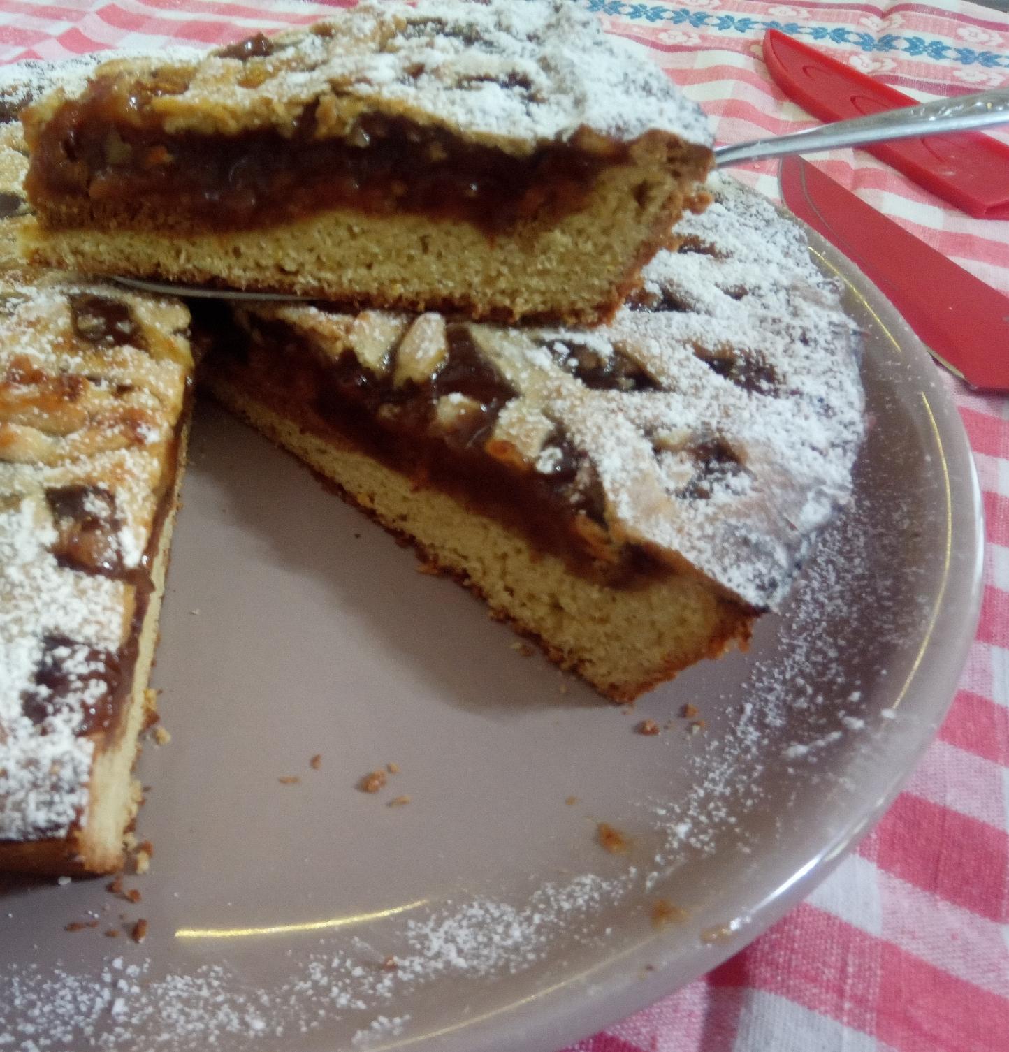 Impasto crostata con zucchero a velo