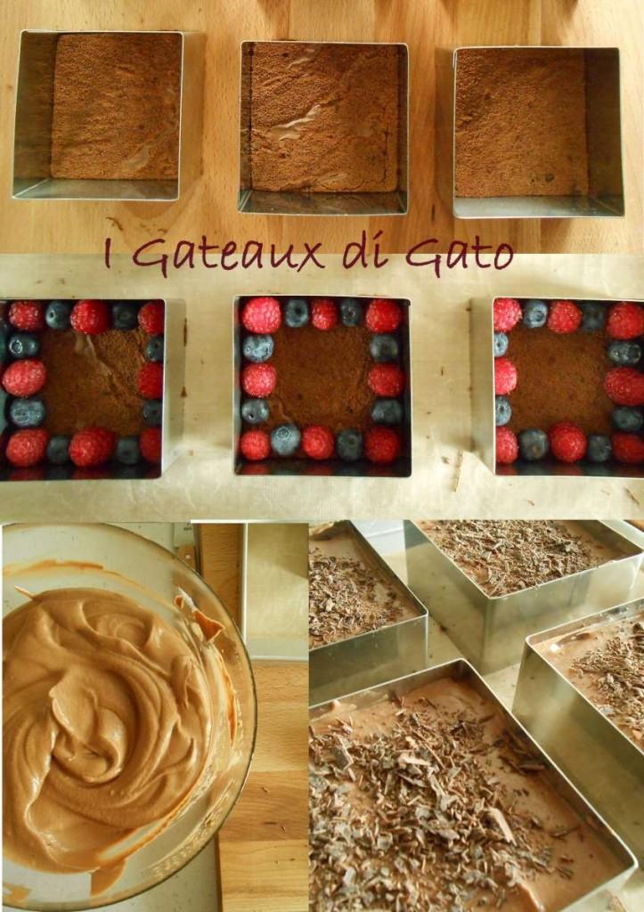 Torta al cioccolato fondente e lamponi con mousse al cioccolato e zenzero