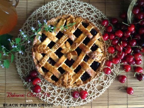 Balsamic Cherry Pie with Black Pepper crust
