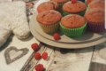 Muffin con marmellata di lamponi