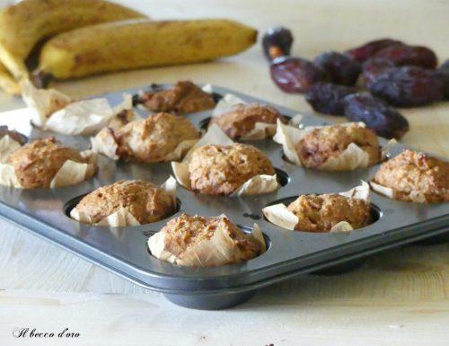 Muffins sofficissimi al cocco senza zucchero, uova, burro e lievito