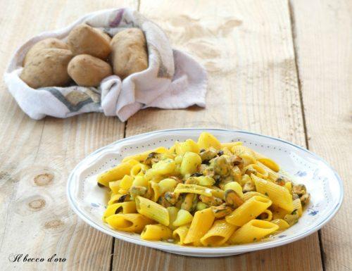 Pasta cozze e patate cremosa