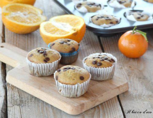 Muffin integrali arancia e cioccolato