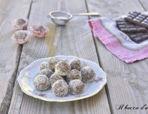 Tartufini cocco e cioccolato