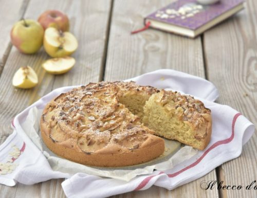 Torta di mele e mandorle senza burro