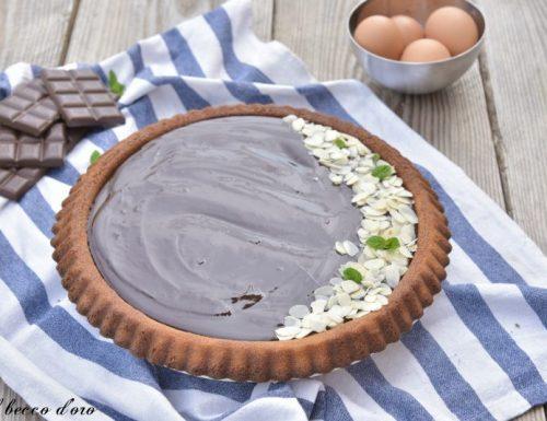 Crostata morbida con ganache al cioccolato