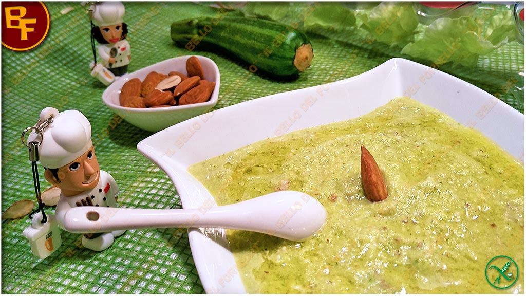 Pesto di zucchine mandorle e miele