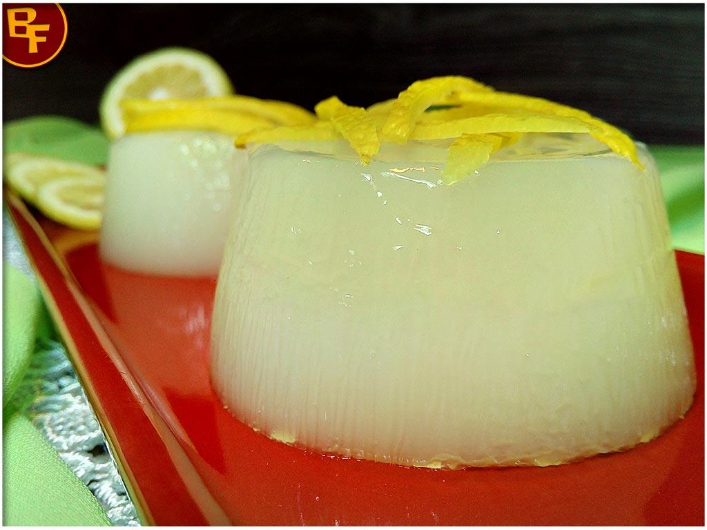 Dessert Gelèe al limone senza gelatina 01