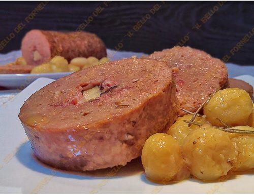 Polpettone di carne con patate al forno