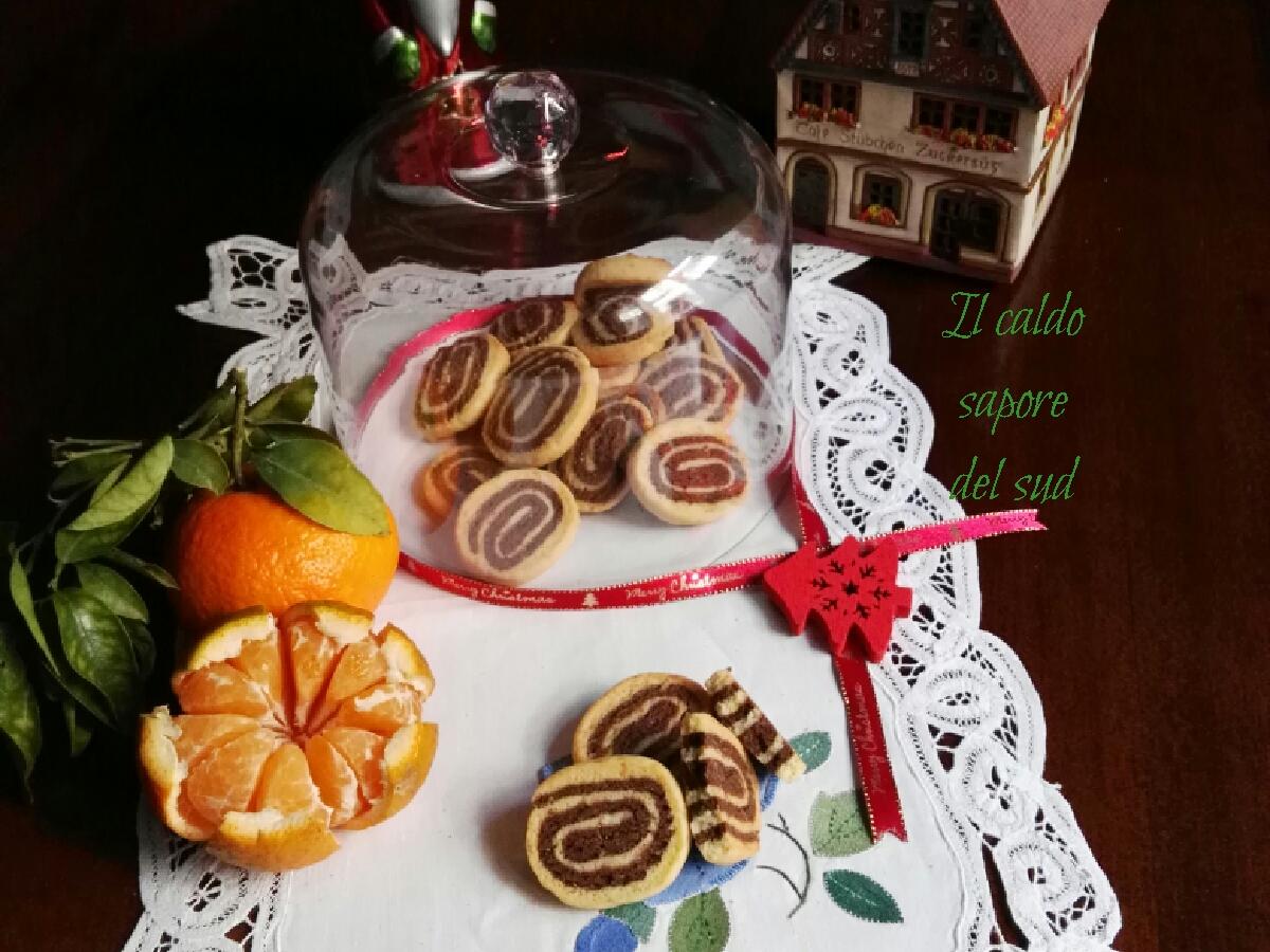 Biscotti cioccolato e mandarino