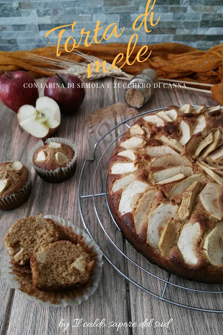 Torta di mele con zucchero di canna