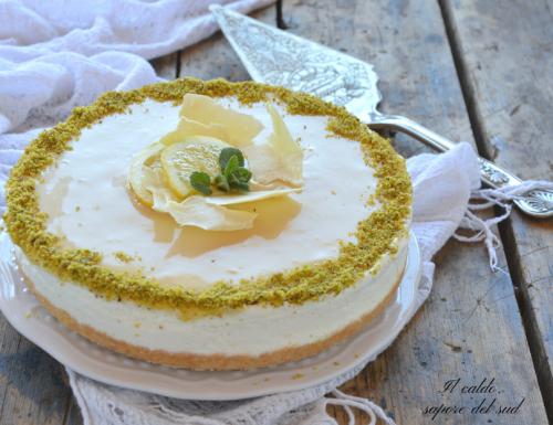 Cheesecake limone e cioccolato bianco