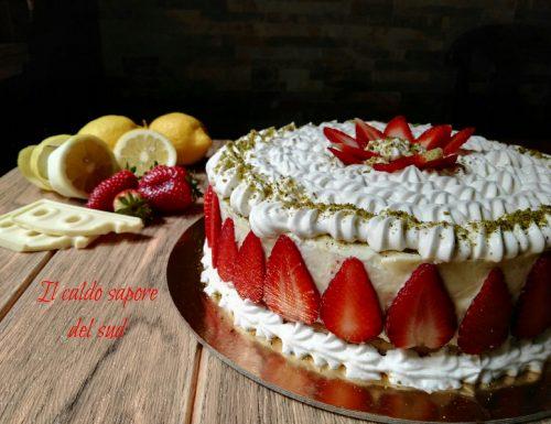 Cheese cake limone e cioccolato bianco