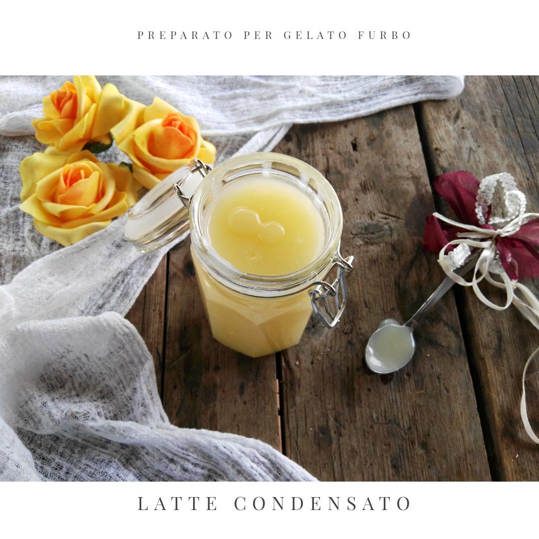 Latte condensato preparato per gelato furbo