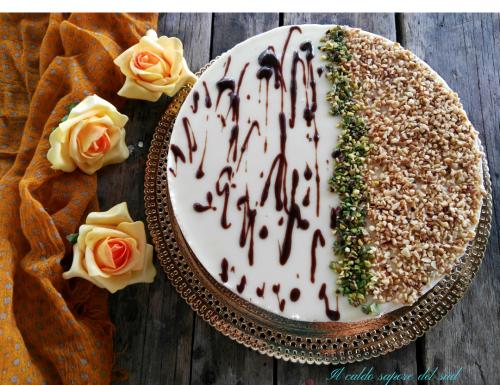 Cheese cake alla nocciola e pistacchio