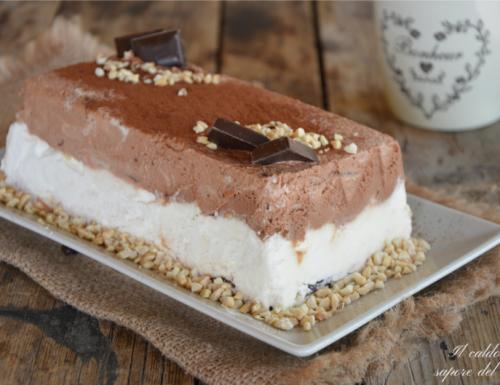 Semifreddo al cioccolato fondente e cioccolato bianco