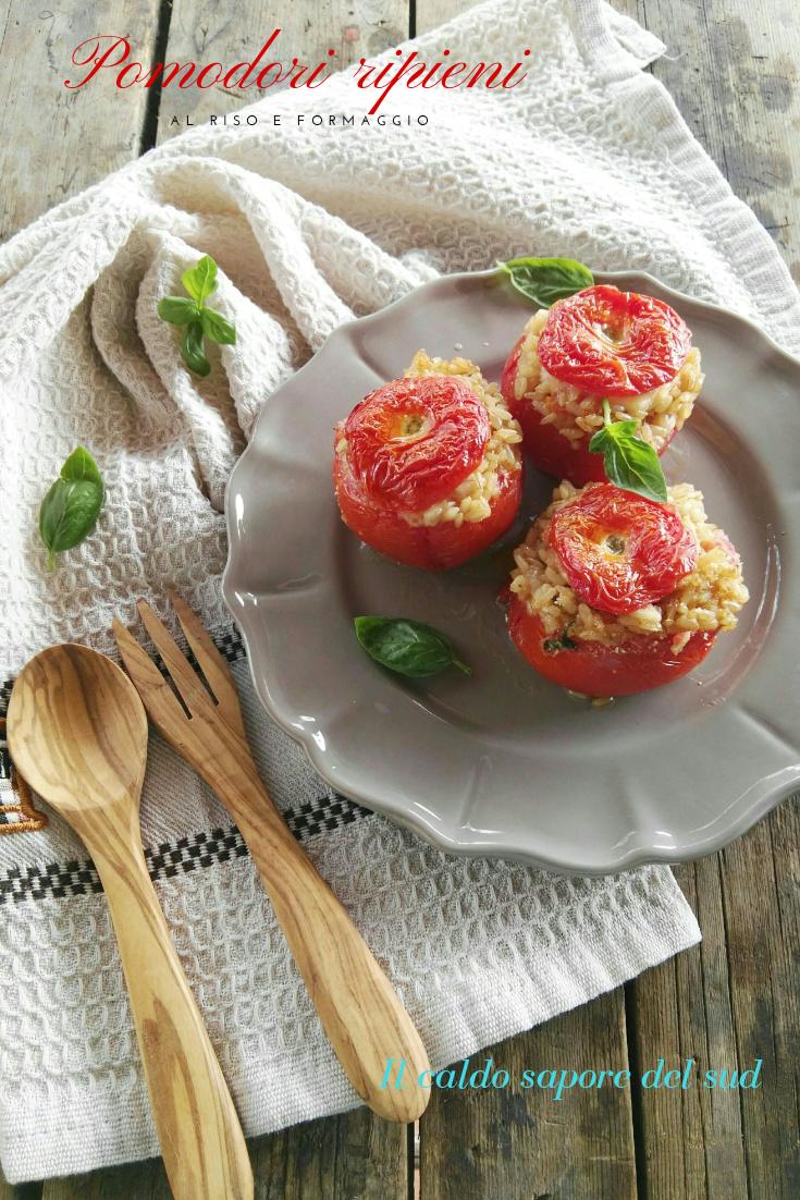 Pomodori ripieni al riso e formaggio