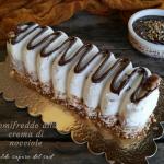 Semifreddo variegato alla crema di nocciole