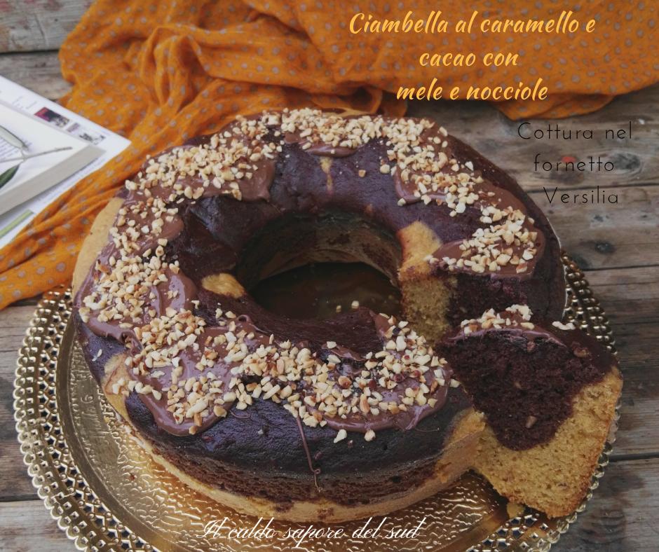 Ciambella al caramello e cacao cottura nel fornetto Versilia