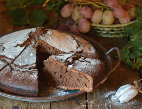 Torta d'autunno al vino rosso cacao e cannella