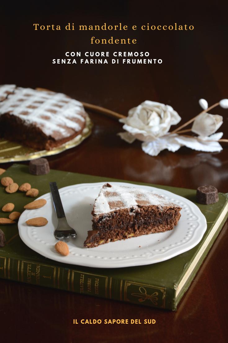 Torta di mandorle e cioccolato fondente senza farina