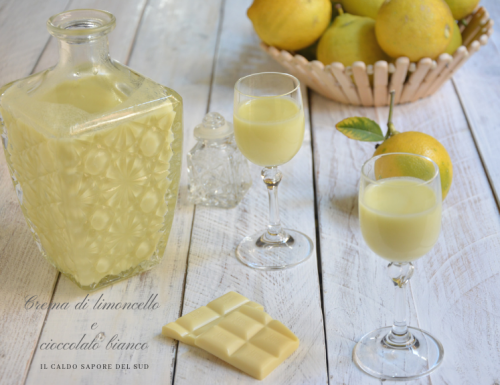 Crema di limoncello  e cioccolato bianco