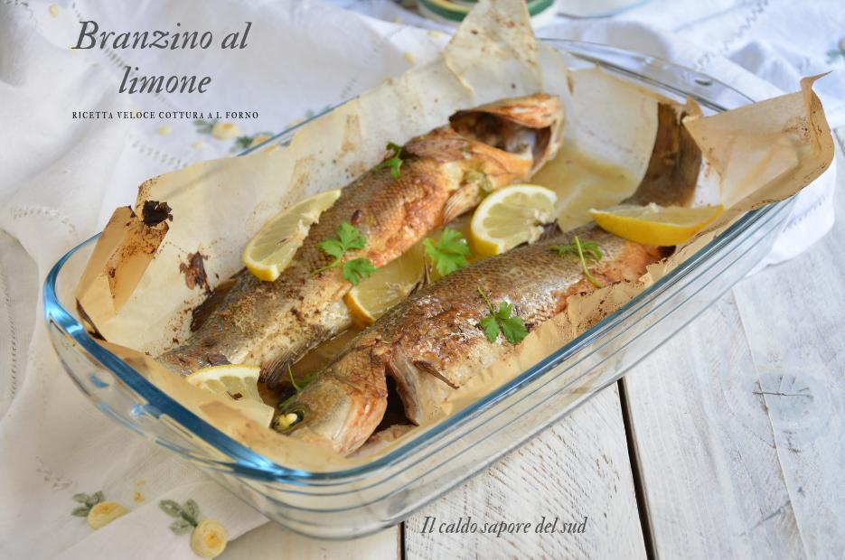 Branzino o spigola al limone cottura veloce in forno