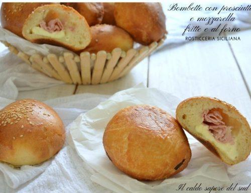 Bombette prosciutto e mozzarella rosticceria siciliana