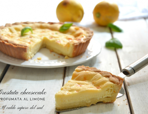 Crostata cheesecake profumata al limone