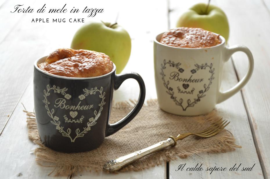 Torta di mele in tazza Apple mug cake