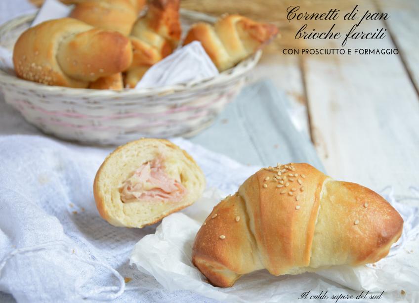 Cornetti di pan brioche farciti