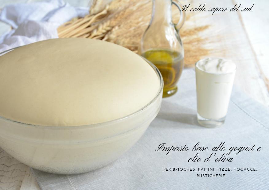 Impasto base allo yogurt e olio d'oliva per brioches, panini, pizze, focacce e rusticherie.
